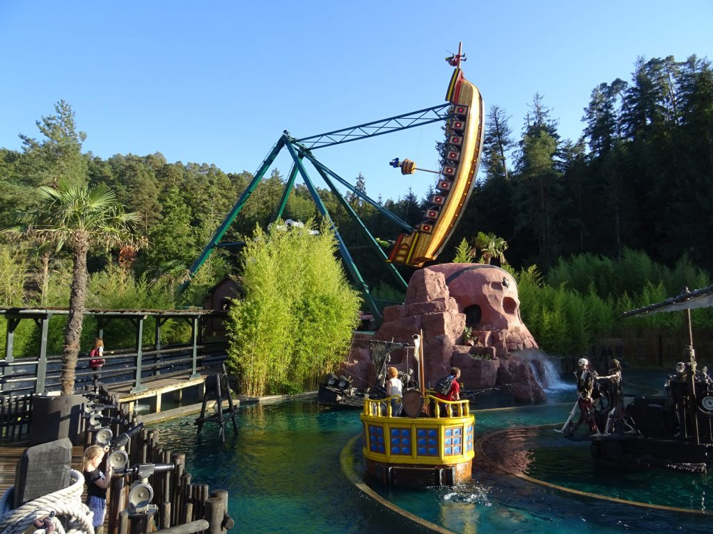 Embark on the pirate ship for a thrilling adventure.