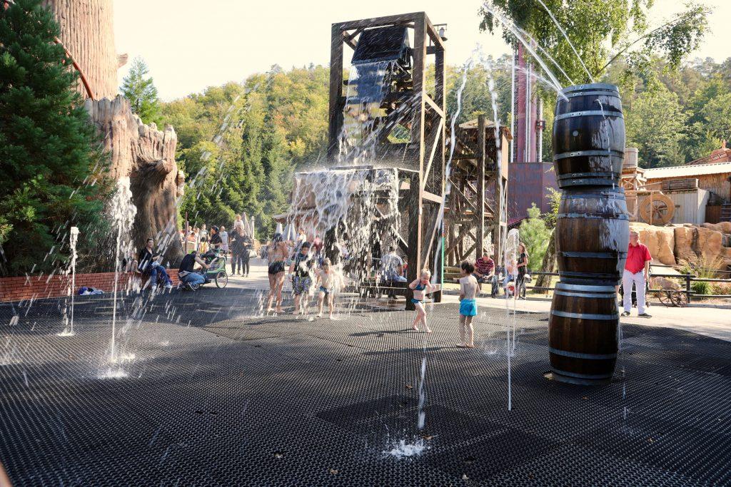 A fun water play area.